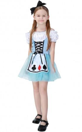 Children's Fantasy Wonderland Alice Kids Maid Costume