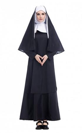 Halloween Costumes Arabic Religious Monk Ghost Cosplay Uniform