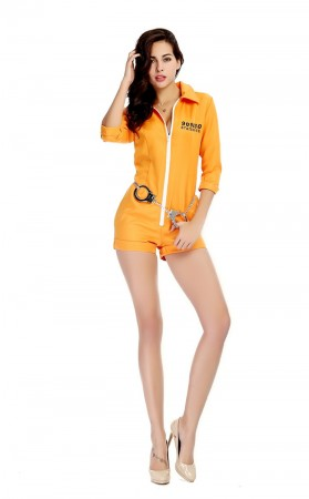 Sexy Yellow Romper Prisoner Costume