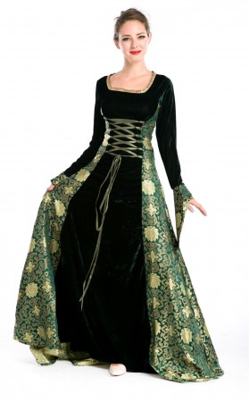 Halloween Velvet Lolita Gothic Renaissance Medieval Mythic Costumes