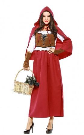 Oktoberfest Costume Sexy High Slit Long Dress