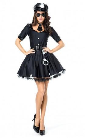 Halloween Sexy Arrest Me Please Cop Costume