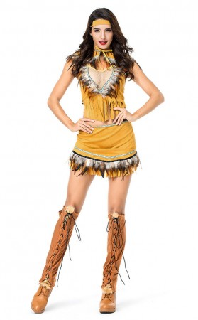 Halloween Native American Girl Costume
