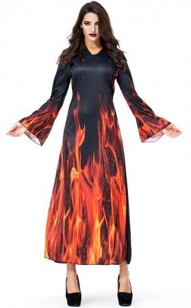 Halloween Hellfire Fiend Witch Costumes