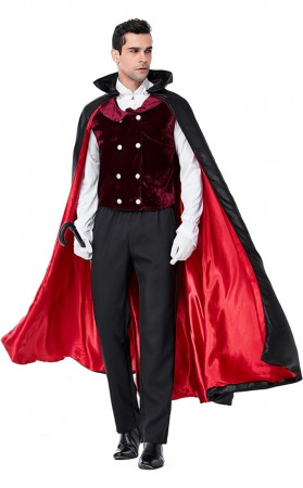 Halloween Party Cosplay Vampire Earl Gula Men's Clothing