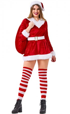 Red Santa Claus Party Gift Costume