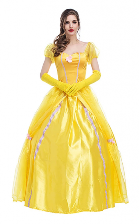 Halloween Cosplay Beauty and the Beast Princess Belle Costume
