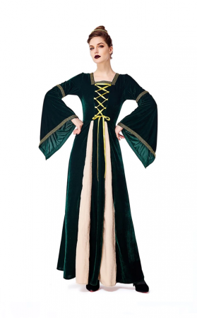 Halloween Parent-Child Costume Renaissance Retro Long Sleeve Midi Dress