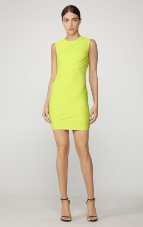 Herve Leger Tulle Bandage Ruched Mini Dress