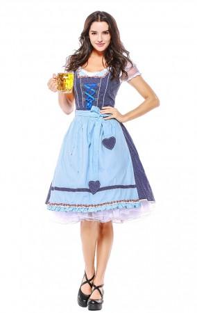 Womens Fraulein Costume for Bavarian Oktoberfest