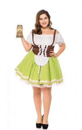 Plus Size Oktoberfest Waitress Party Dress