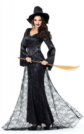 Halloween Costumes Black Witch Cosplay Costume
