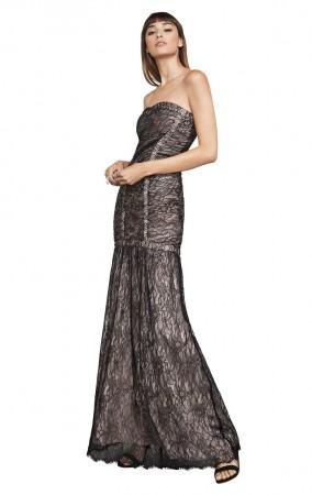 Herve Leger Aleah Vintage Lace Bandage Gown