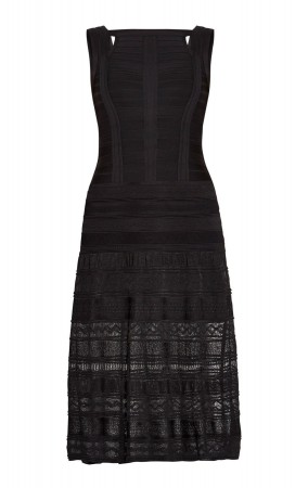 Herve Leger Ella Pointelle Bandage Dress