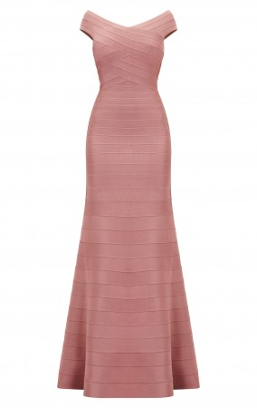 Herve Leger Carolyne Novelty Essentials Bandage Gown