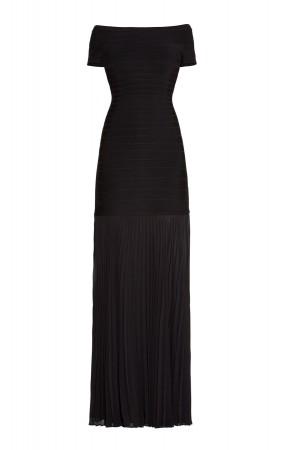 Herve Leger Black Breanna Signature Essentials Dress