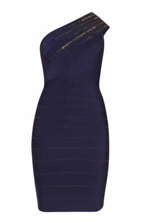 Herve Leger Brianne Starburst Sequined Dress