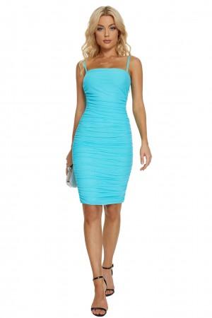 Sky Blue Sexy Sleeveless Sling Bandage Dress