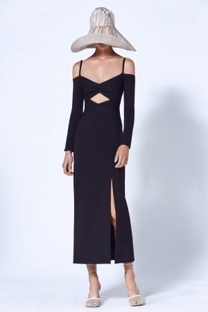 Sexy Off-The-Shoulder Cutout Bandage Long Dress
