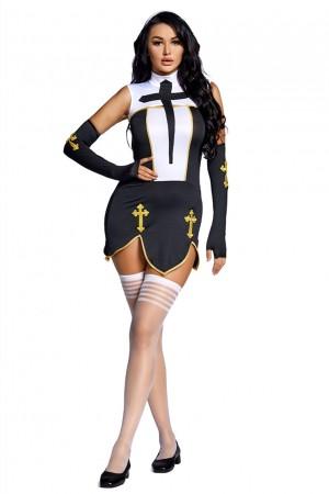 Halloween Sexy Temptation Bad Nun Costume
