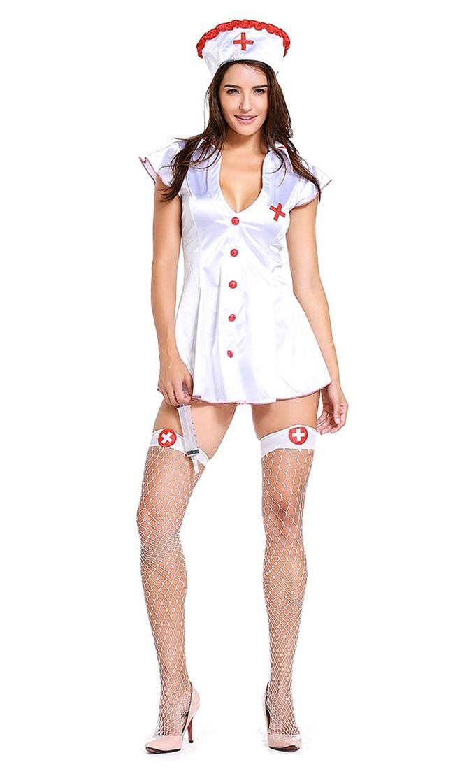Adult Women Cardiac Arrest Nurse Halloween Costume Plus Size