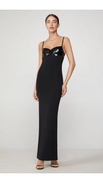 Herve Leger Sequin Ruched Gown