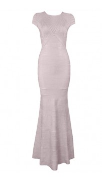Herve Leger Maribel Tulle Applique Dress