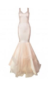 Metallic Wedding Bandage Dress