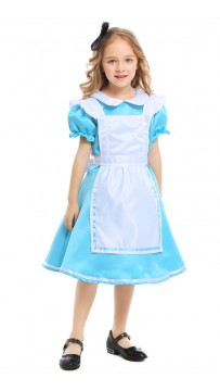 Halloween Alice In Wonderland Kids Maid Costumes