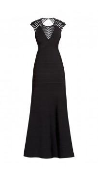 Herve Leger Maribel Tulle Applique Dress