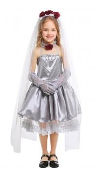 Halloween Child Cosplay Ghost Bride Masquerade Costume