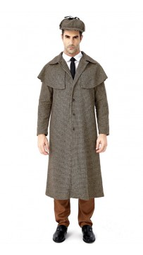 Halloween British Style Detective Sherlock Holmes Cosplay Costume