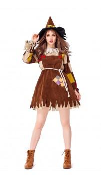 Halloween Parent-Child Costumes Wizard of Oz Scarecrow Adult Suit