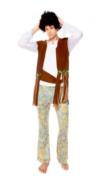 Retro Hawaiian Style Hip Hop Singer Performance Costume