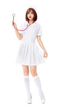 Halloween Classic White Suit Sexy Nurse Costume