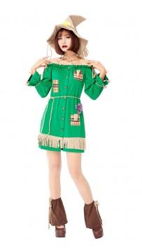 Halloween Green Women Rogue Robin Hood Masquerade Costume
