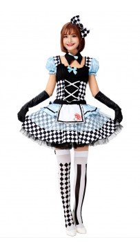 Halloween Alice In Wonderland Alarm Clock Maid Dress