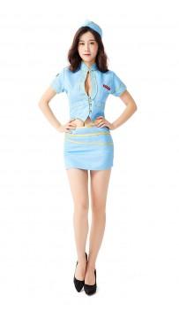 Women Mile High Hottie Flight Attendant Costume