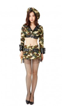 Halloween Amazon Camouflage Jungle Woman Warrior