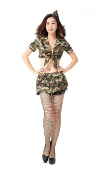 Halloween Sexy Spy Camouflage Warrior