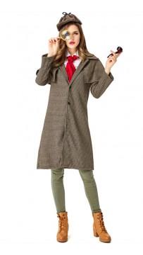 Halloween Female Detective Sherlock Holmes Costume