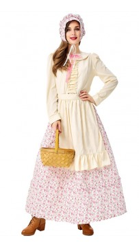 Coffee Pastry Chef Country Style Maid Dress