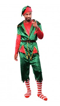 Christmas Long Sleeve Santa Men's Elf Costume