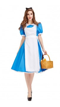 Halloween Alice In Wonderland Blue Stage Costume