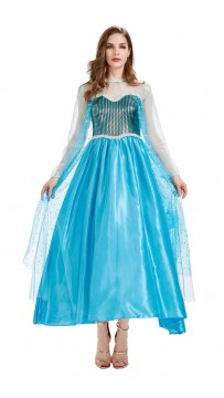 Halloween Movie Character Blue Princess Dress