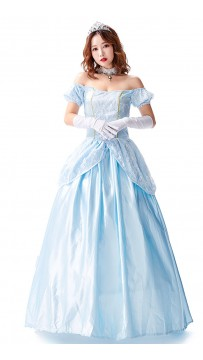 Halloween Party One-Shoulder Sky Blue Dress