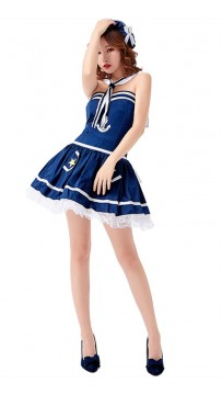 Halloween Ladies Sexy Blue Sailor Costume