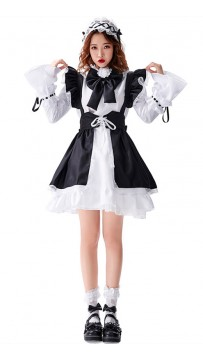 Halloween Loli Maid Black And White Lolita Costume