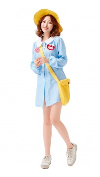 Halloween Blue Casual Childcare Worker Parent-Child Clothes