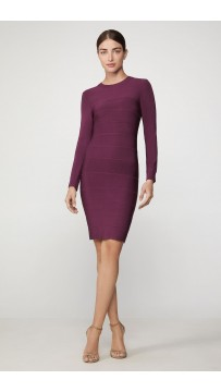 Herve Leger Icon Crewneck Mini Dress